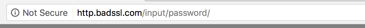 Google's insecure warning
